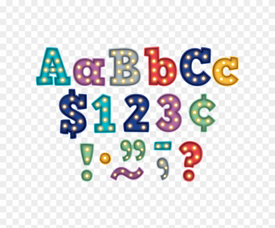 Display Letters Numbers Bold Block Free Delivery.