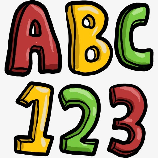 Letters and numbers clipart 5 » Clipart Portal.