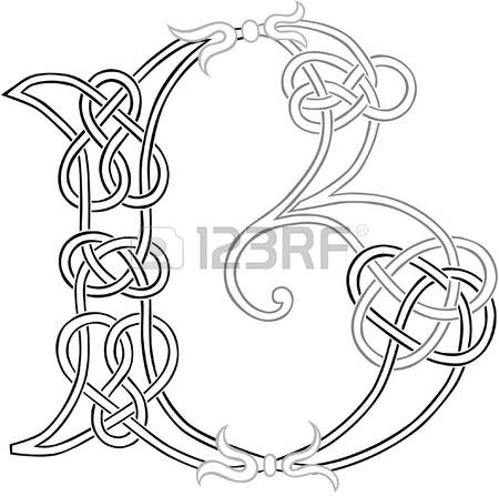 830 Celtic Letters Stock Vector Illustration And Royalty Free.