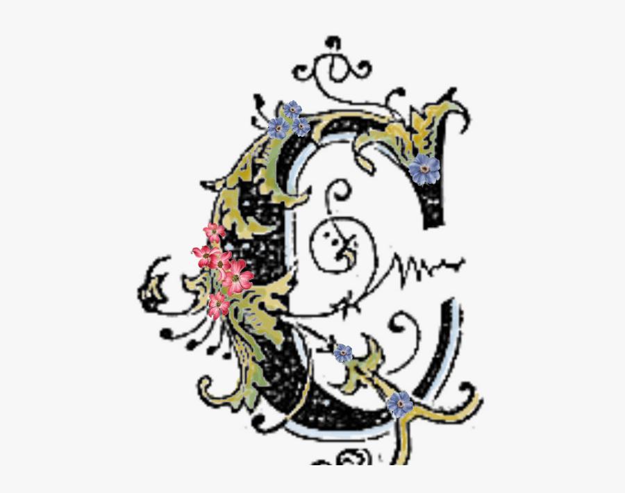 Free Download Fancy Letter C Png Clipart Decorative.