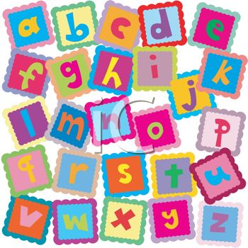 All the Letters of the Alphabet In ABC Blocks For Learning.