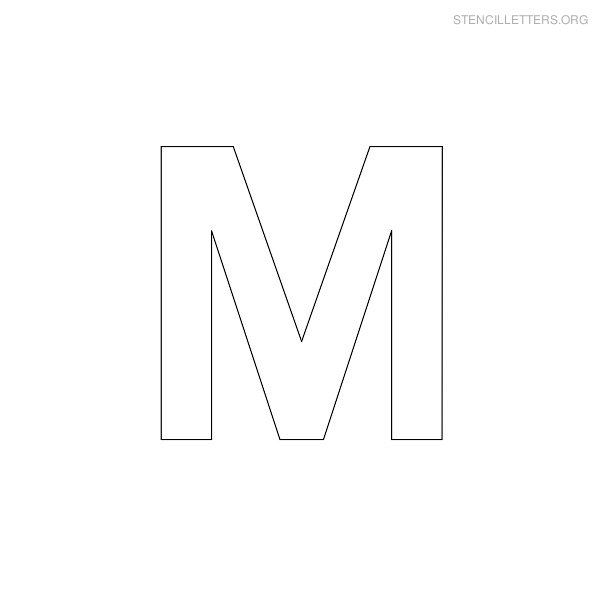 Free Letter M Outline, Download Free Clip Art, Free Clip Art.