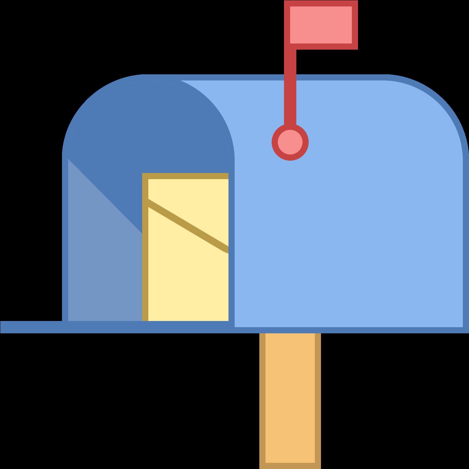 Boîte Aux Lettres Avec Lettre Icon.