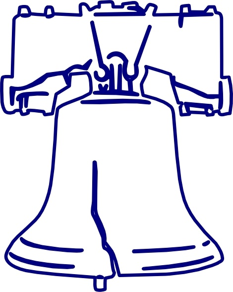 Lakeside Liberty Bell clip art Free vector in Open office.