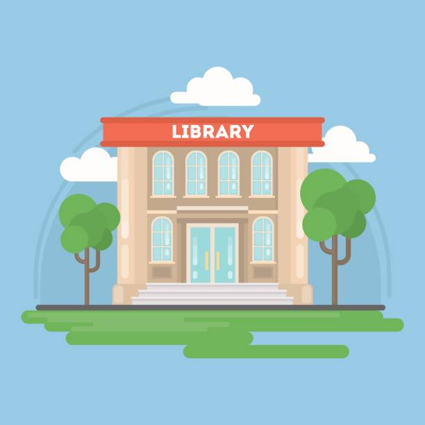Best Library Building Illustrations, Royalty.