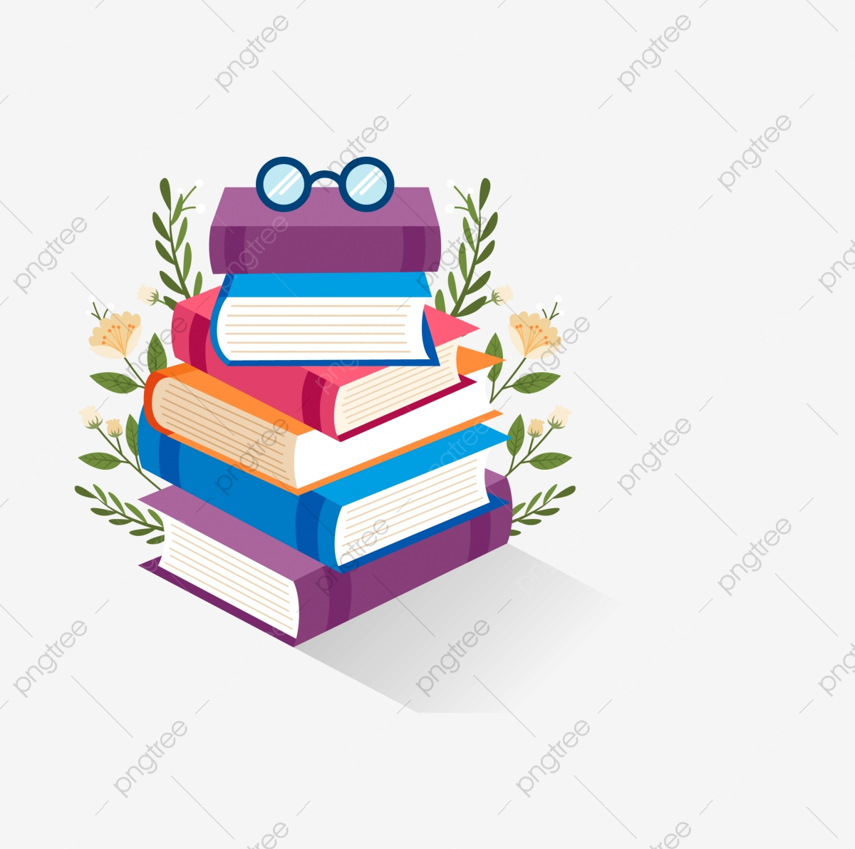 Library Books Are Stacked, Library Clipart, Library, Books PNG.