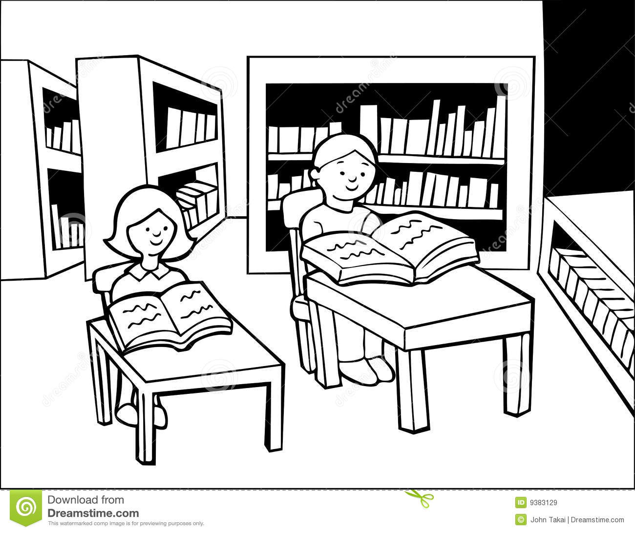 42+ Library Clipart Black And White.