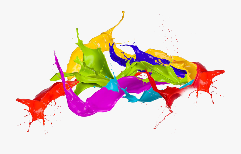 Clipart Library Splash Transparent Colorful Ink.