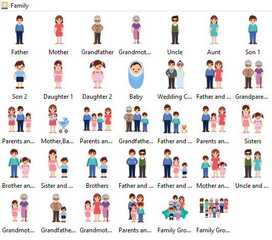 Free Vector Family Cliparts.