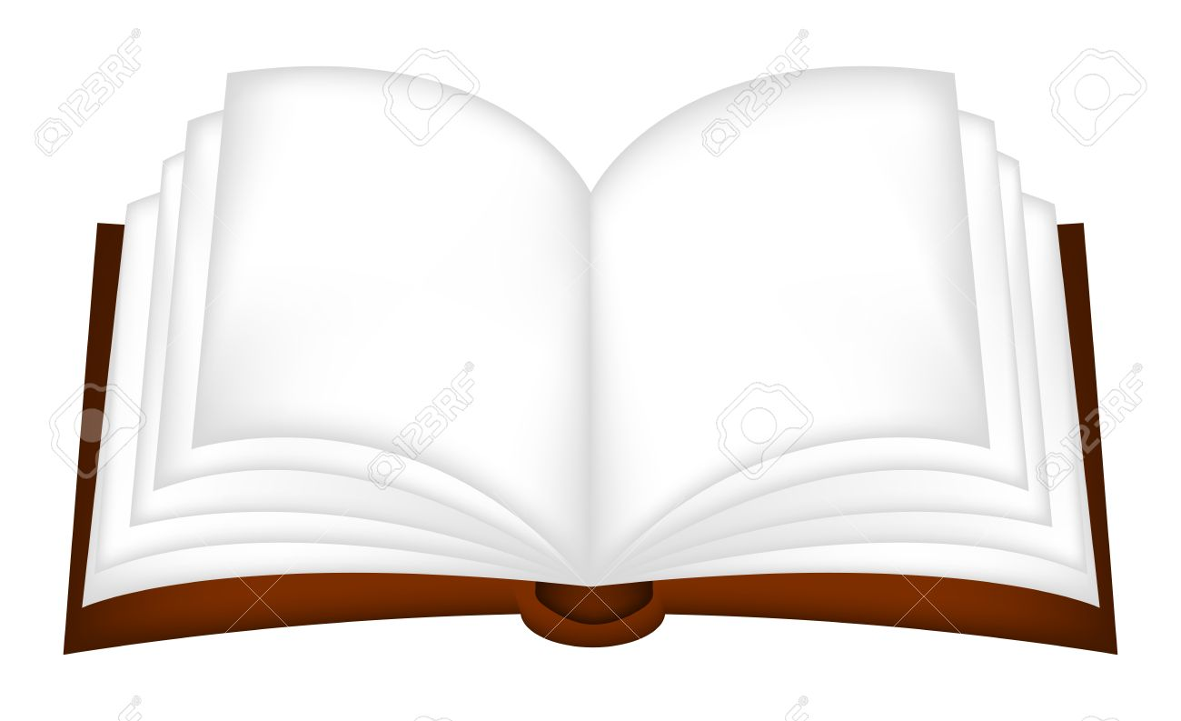 Abra el vector clipart libro, símbolo, icono del diseño. Ilustración  aislada en el fondo blanco..
