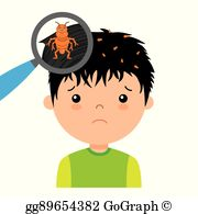 Head Lice Clip Art.