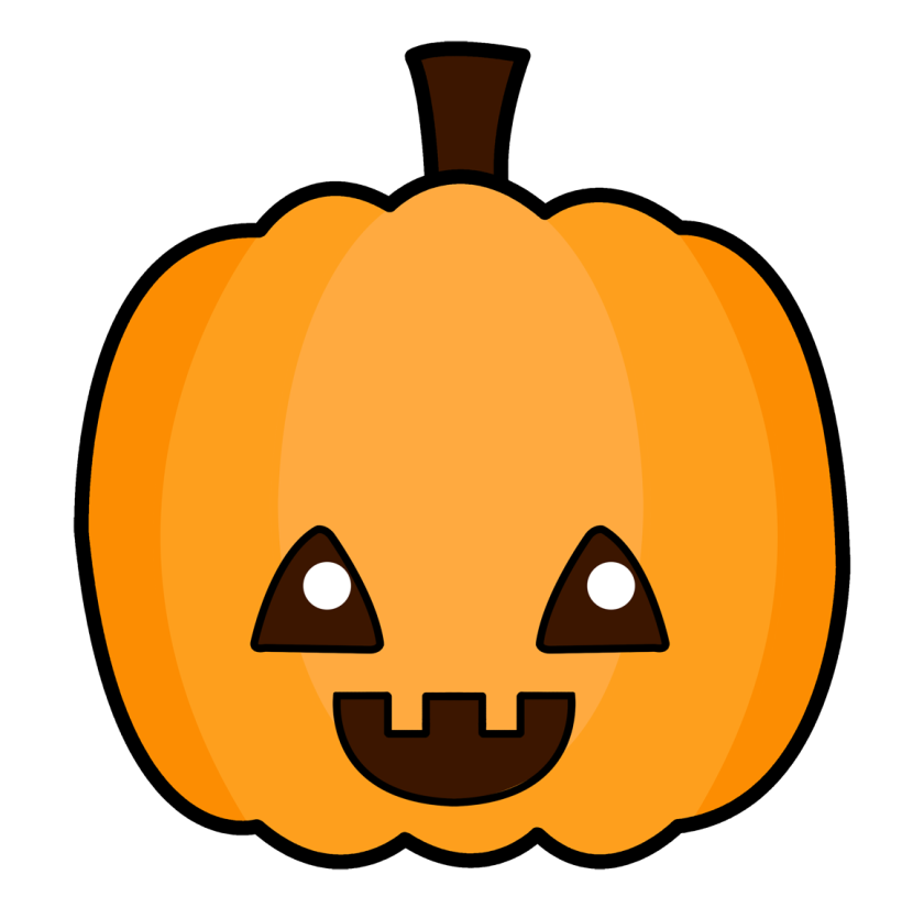 Cute Pumpkin Transparent Clipart.