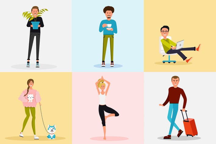 Lifestyle Clipart by Jumsoft on Envato Elements.