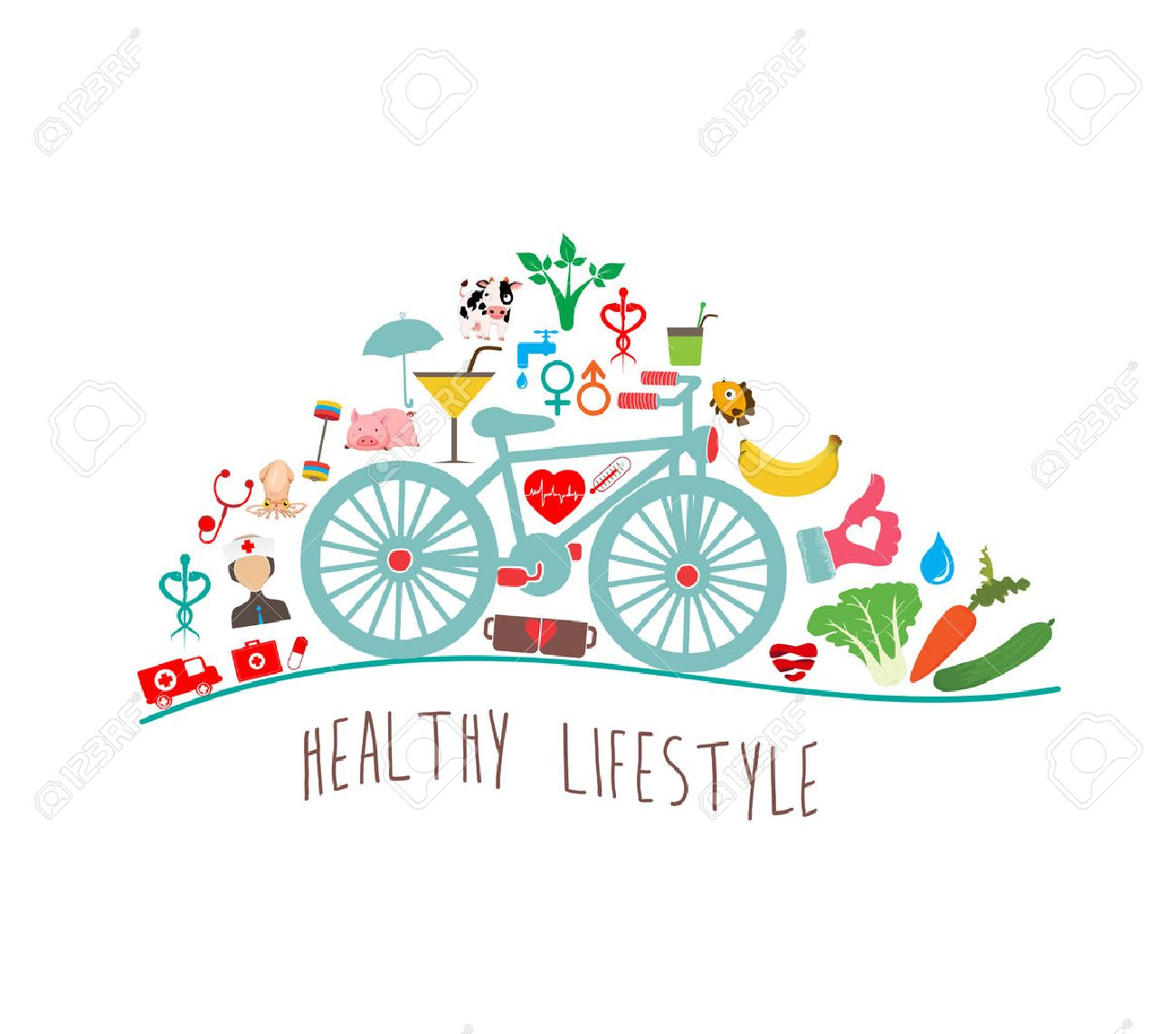 Healthy Lifestyle Background.
