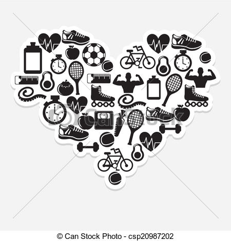 Healthy Lifestyle Clipart Black And White.