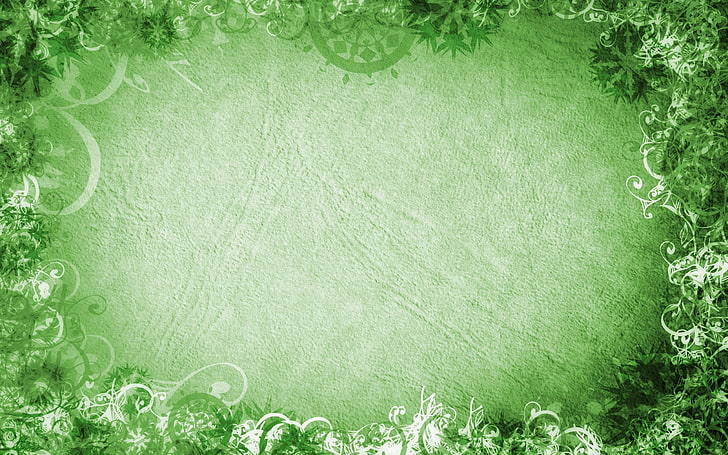 HD wallpaper: green and white floral clip art, patterns.