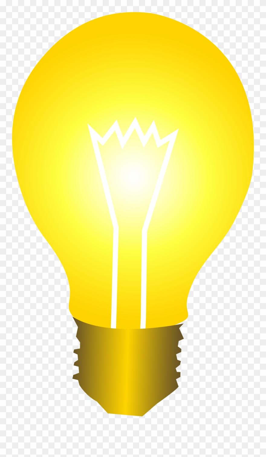 Bright Yellow Idea Light Bulb Free Clip Art.