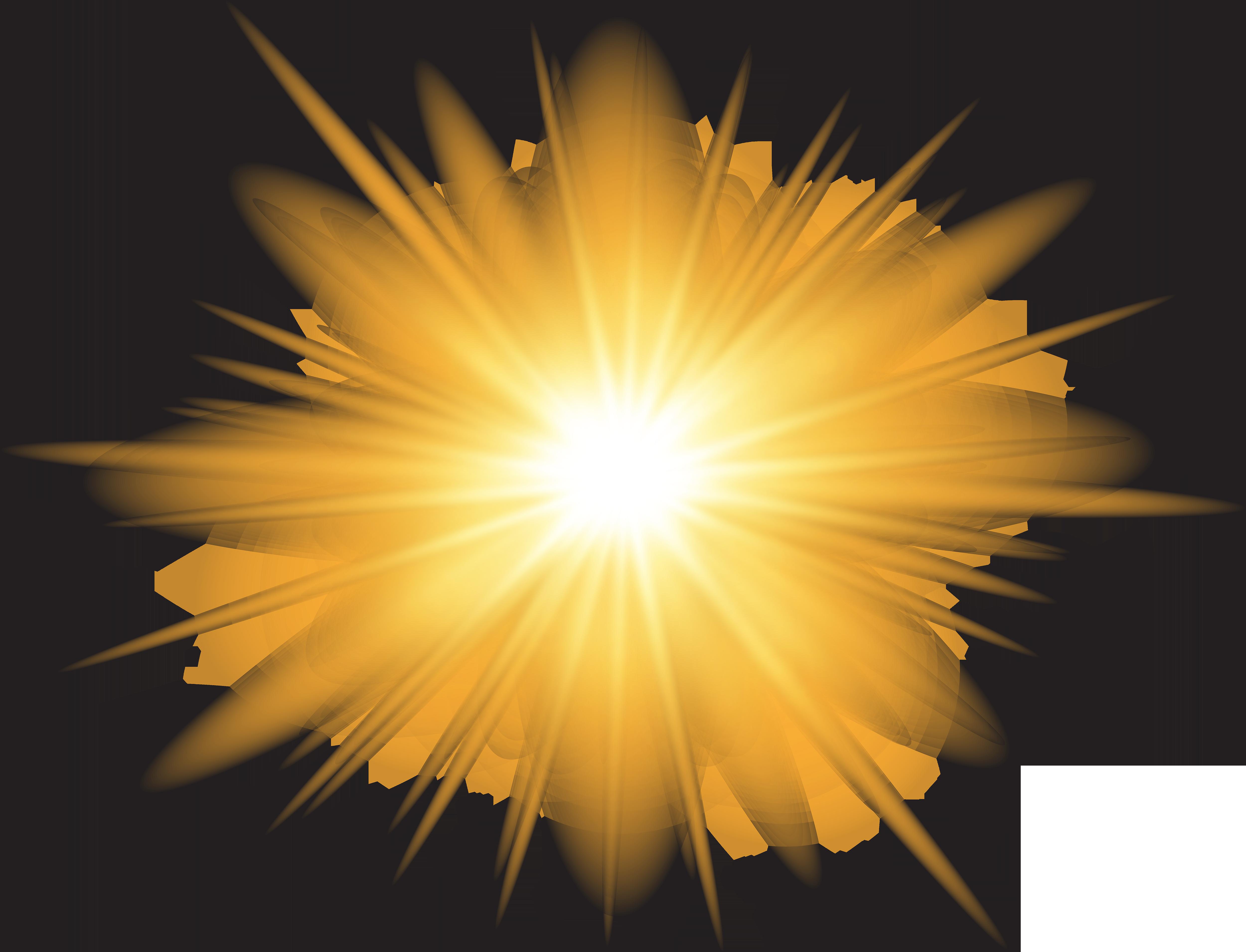 Sun Effect Transparent PNG Clip Art Image.