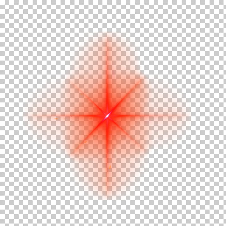 Triangle Symmetry Point Pattern, Red star light effect, red.