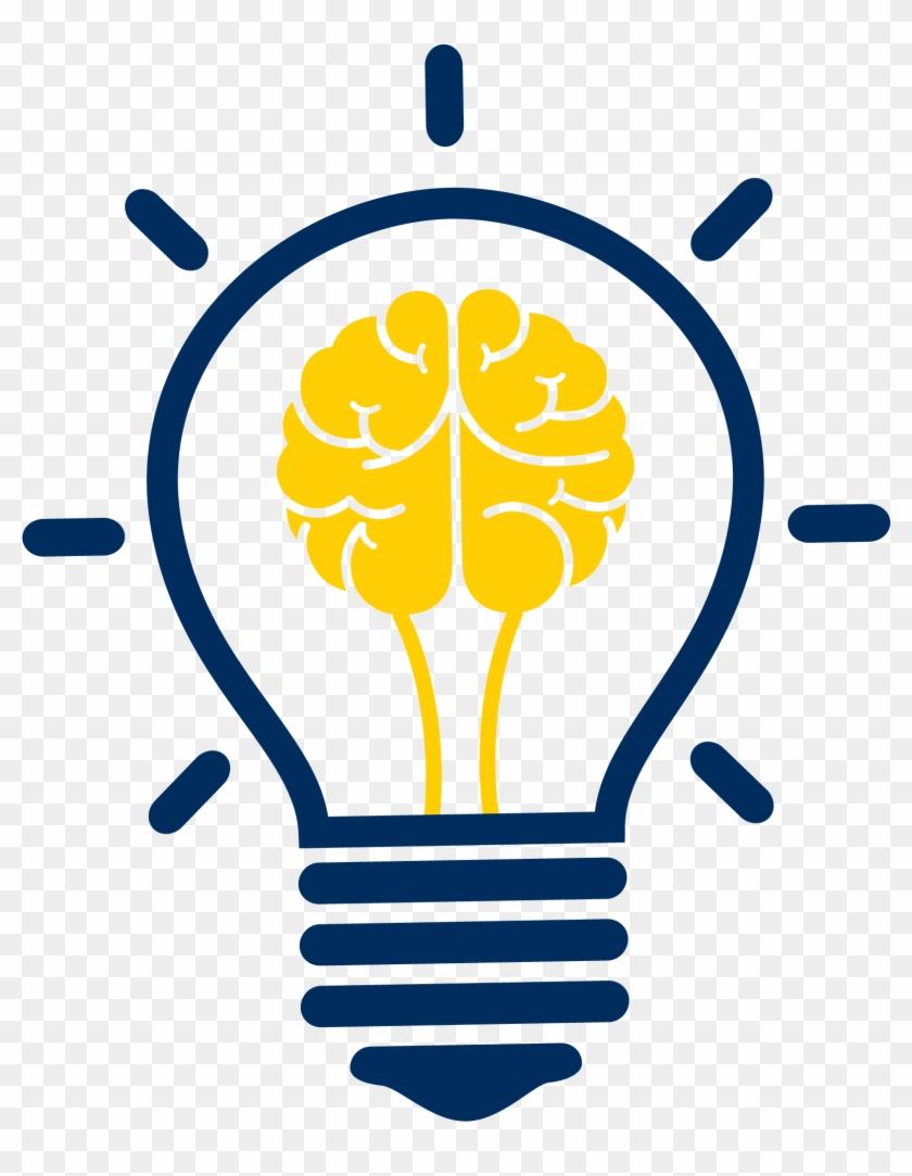 Incandescent Light Bulb Brain Clip Art.