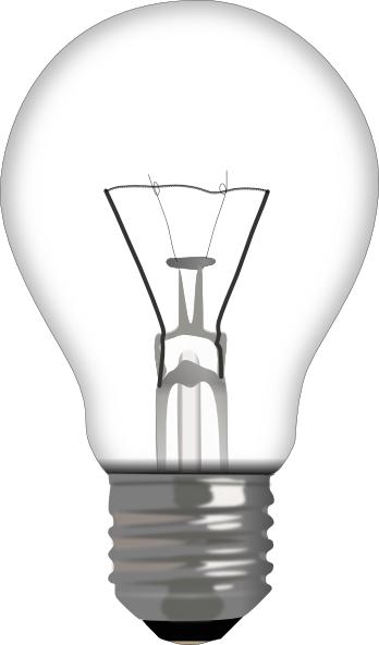 Light bulb clip art free vector.