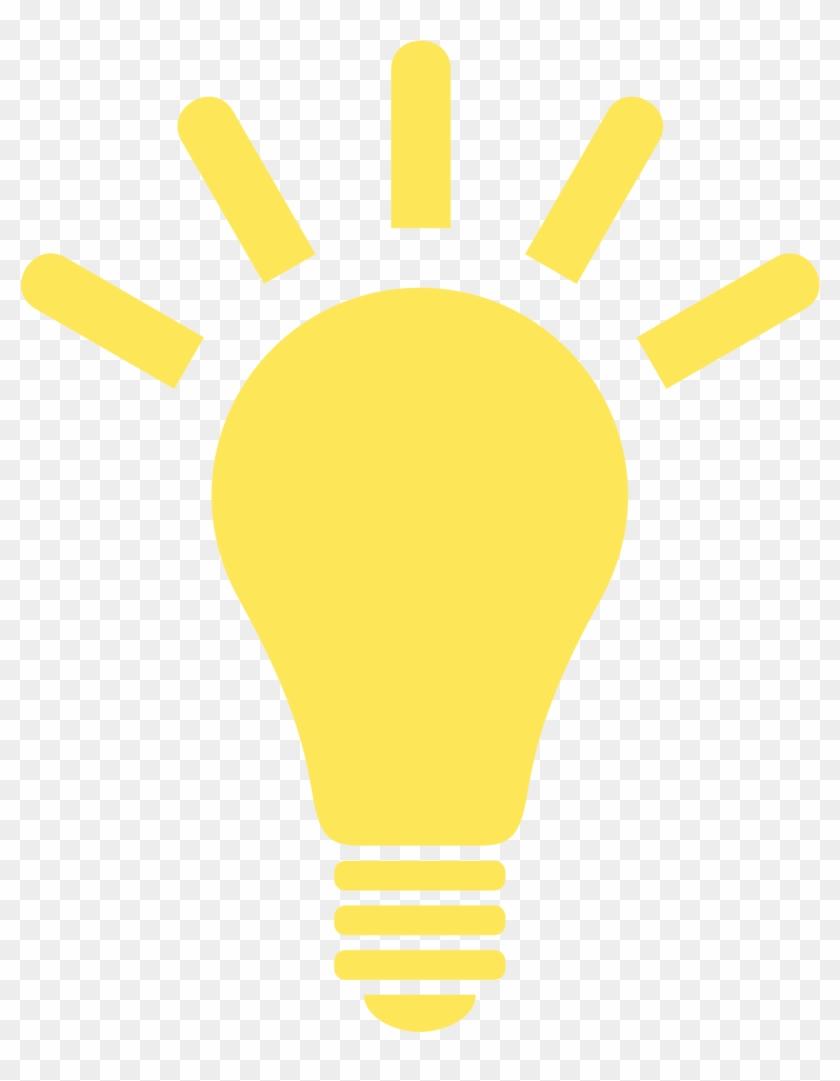 Yellow Lightbulb Clipart.