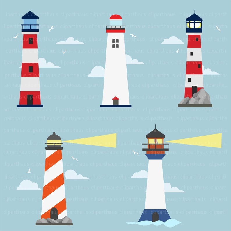 Clipart Lighthouse, Lighthouse Clipart, Light house Clipart, Lighthouse  Vector, Lighthouse svg, Beacon SVG, Commercial Use, SVG, Svg Files.