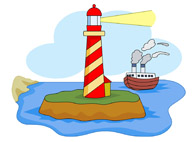 Free Lighthouses Clipart.