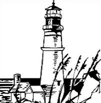 Free Lighthouse Drawing Clipart.