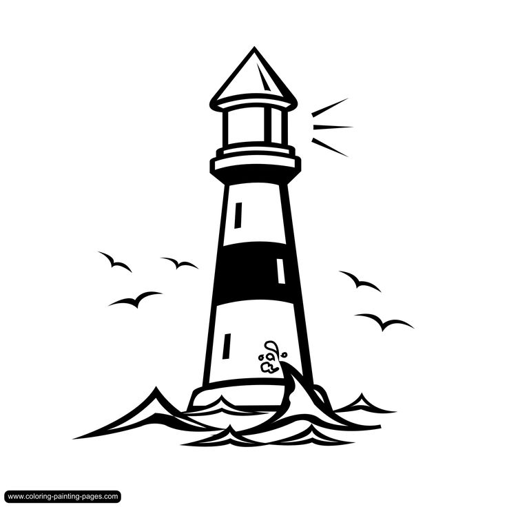 Lighthouse Drawing.