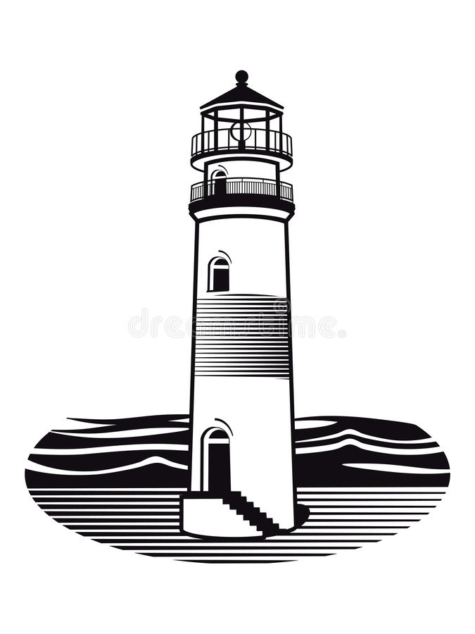 Lighthouse Drawing Stock Illustrations.