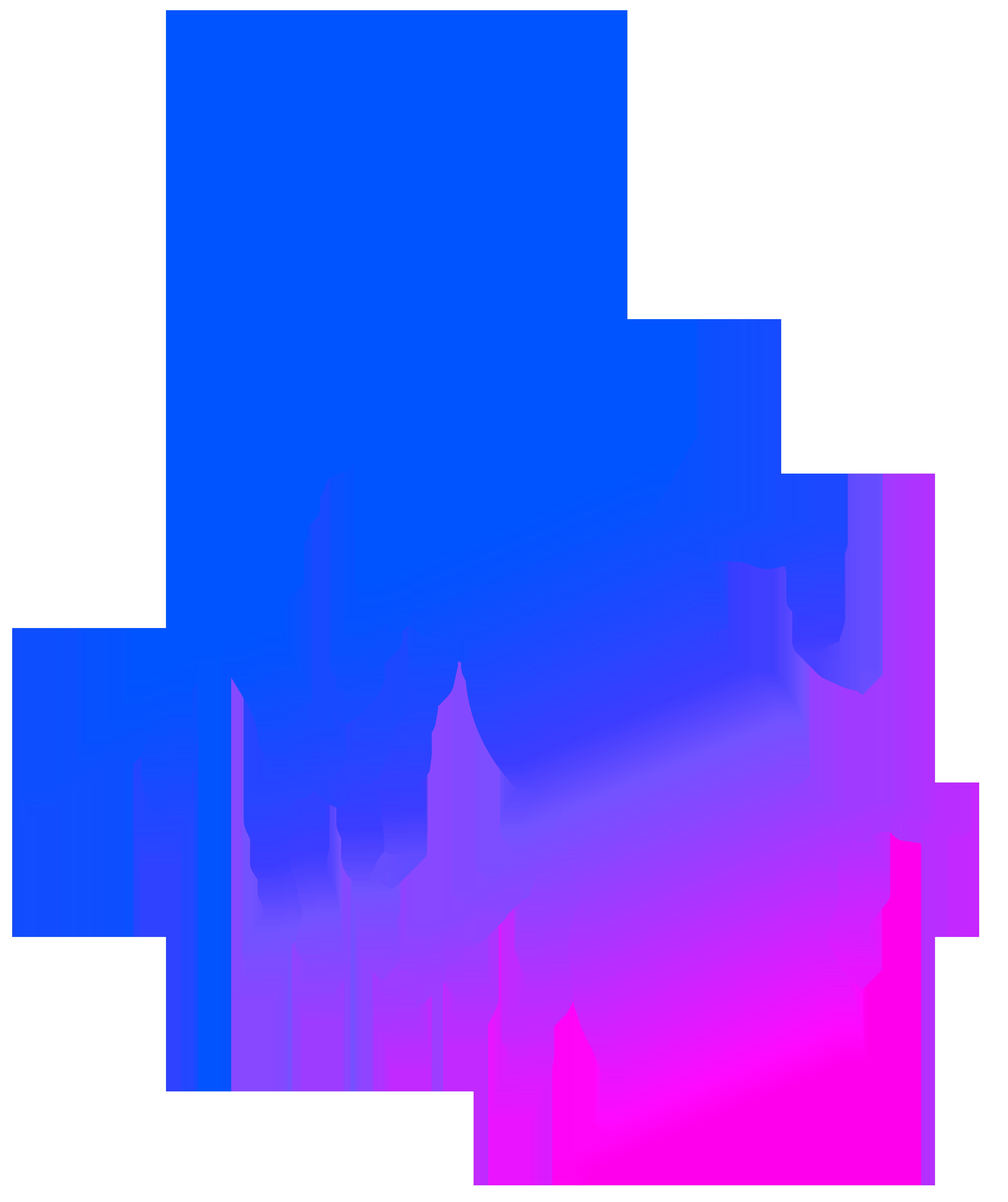 Colorful Lightning PNG Transparent Clip Art Image.