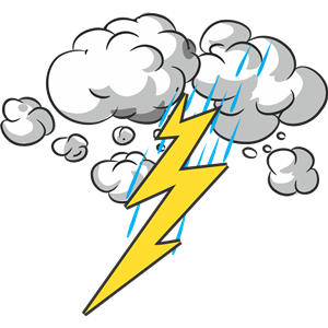 Thunder and Lightning clipart, cliparts of Thunder and Lightning.