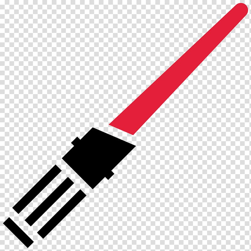 Red light saber illustration, electronics accessory angle.