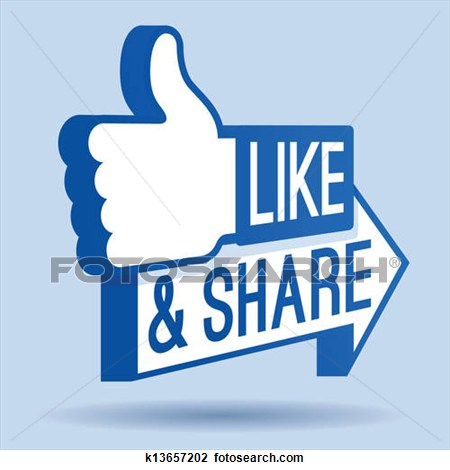 Facebook Like And Sharesymbol Clipart.