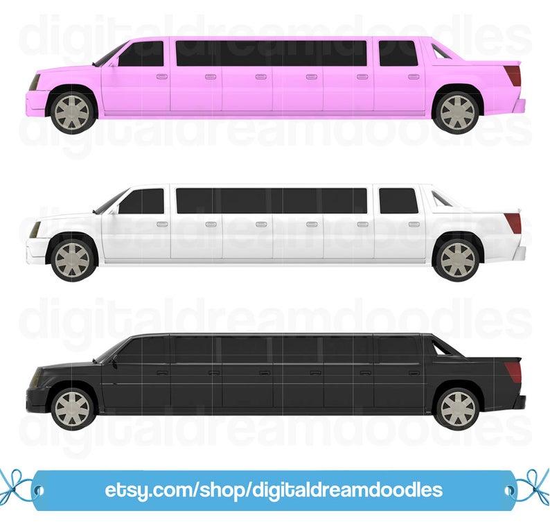 Limousine Clipart, Limousine Clip Art, Limo Clipart, Limo PNG Clip Art,  Luxury Vehicle Clipart, Luxury Car Clipart, Limo Digital Download.