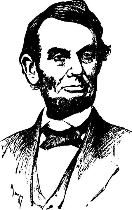 Abraham Lincoln Clipart transparent PNG.