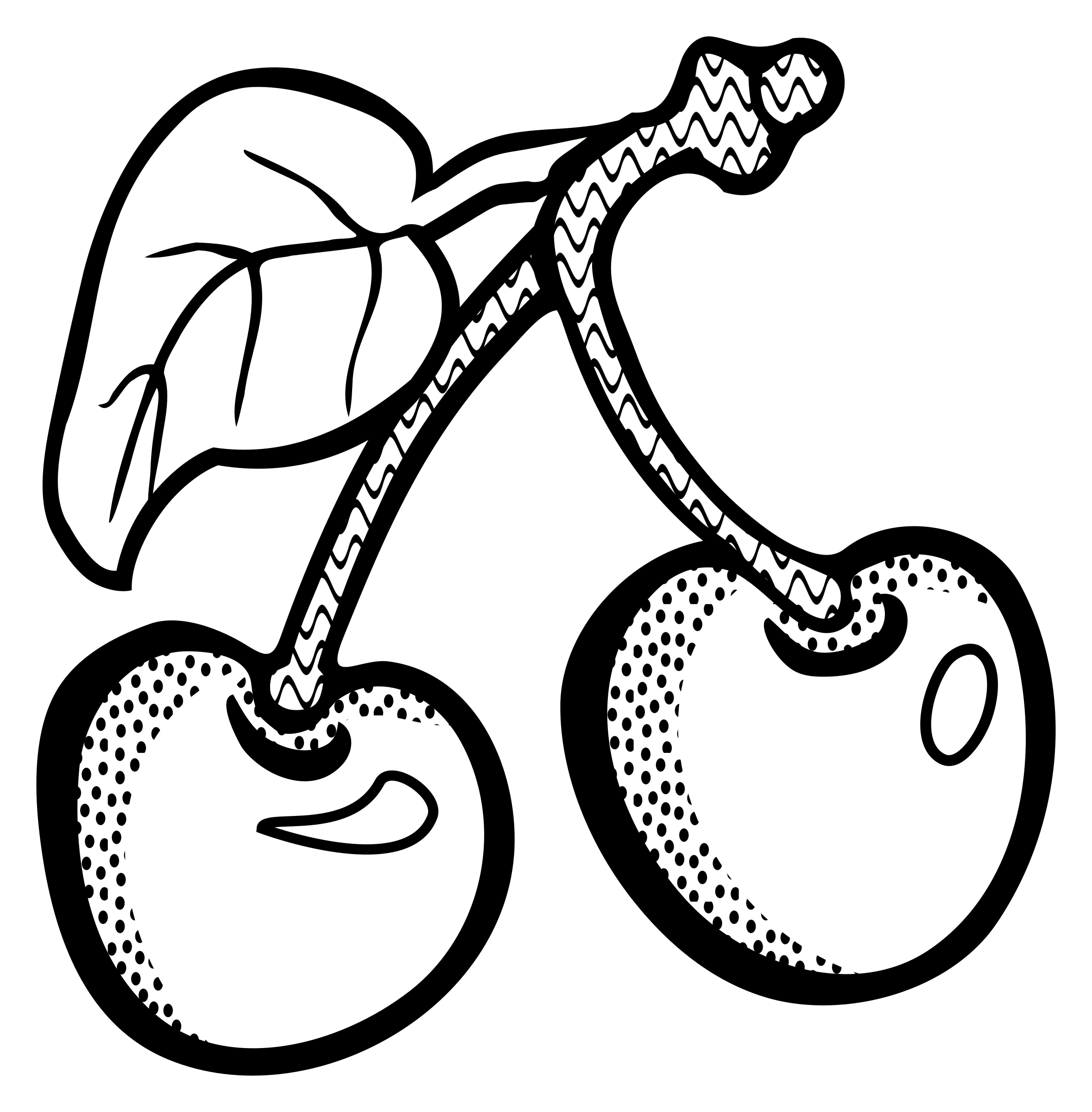 Cherry clipart line art, Cherry line art Transparent FREE.