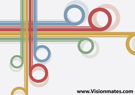Imágenes clip art y gráficos vectoriales Líneas retro gratuitos.