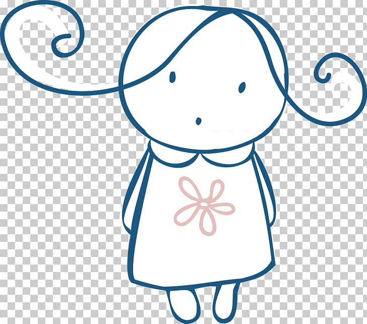 Mujer, líneas niña PNG Clipart.