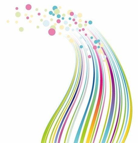 Imágenes clip art y gráficos vectoriales Puntos y líneas de colores.