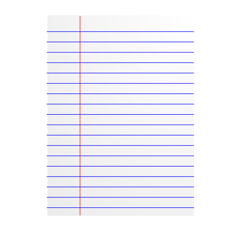 Free Clipart: Lined paper icon.