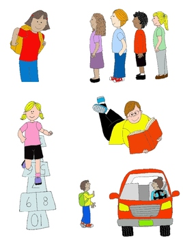 Kids Helping Other Kids Clipart.