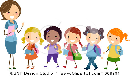 Students In A Line Clipart.