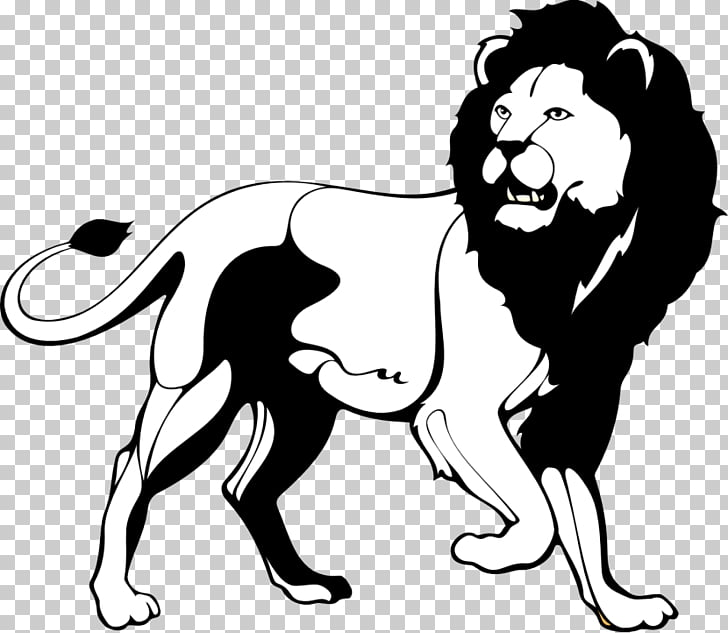 Lion Black and white Roar , Black Lion s PNG clipart.
