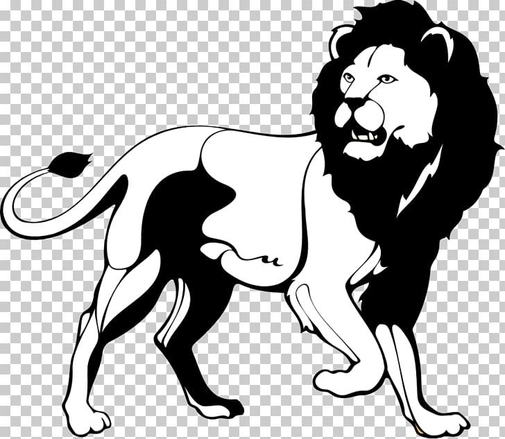 Lion Black and white Roar , Black Lion s PNG clipart.