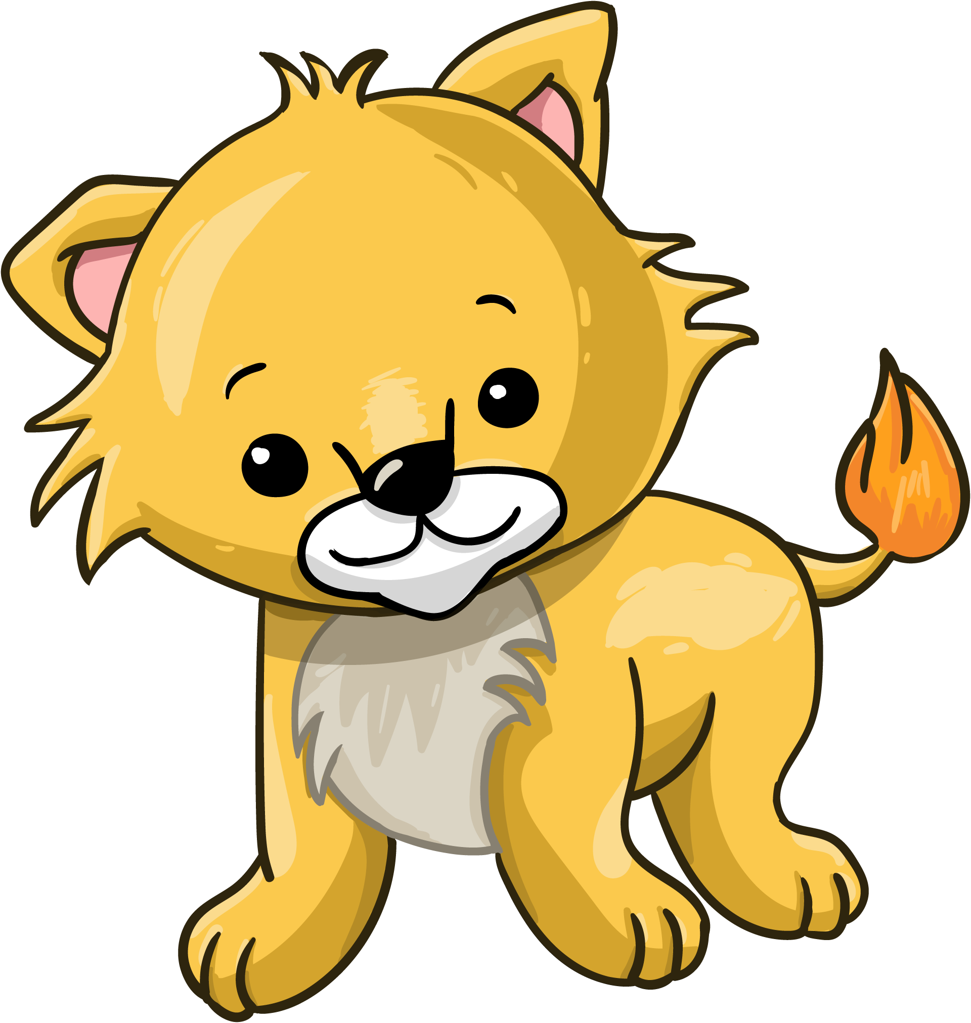 Cartoon lion cub.