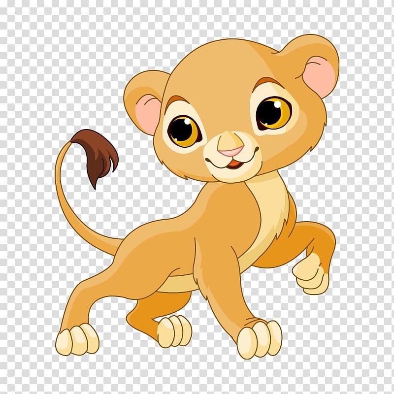 Lion Sarabi Cartoon , Cartoon Lioness transparent background PNG.