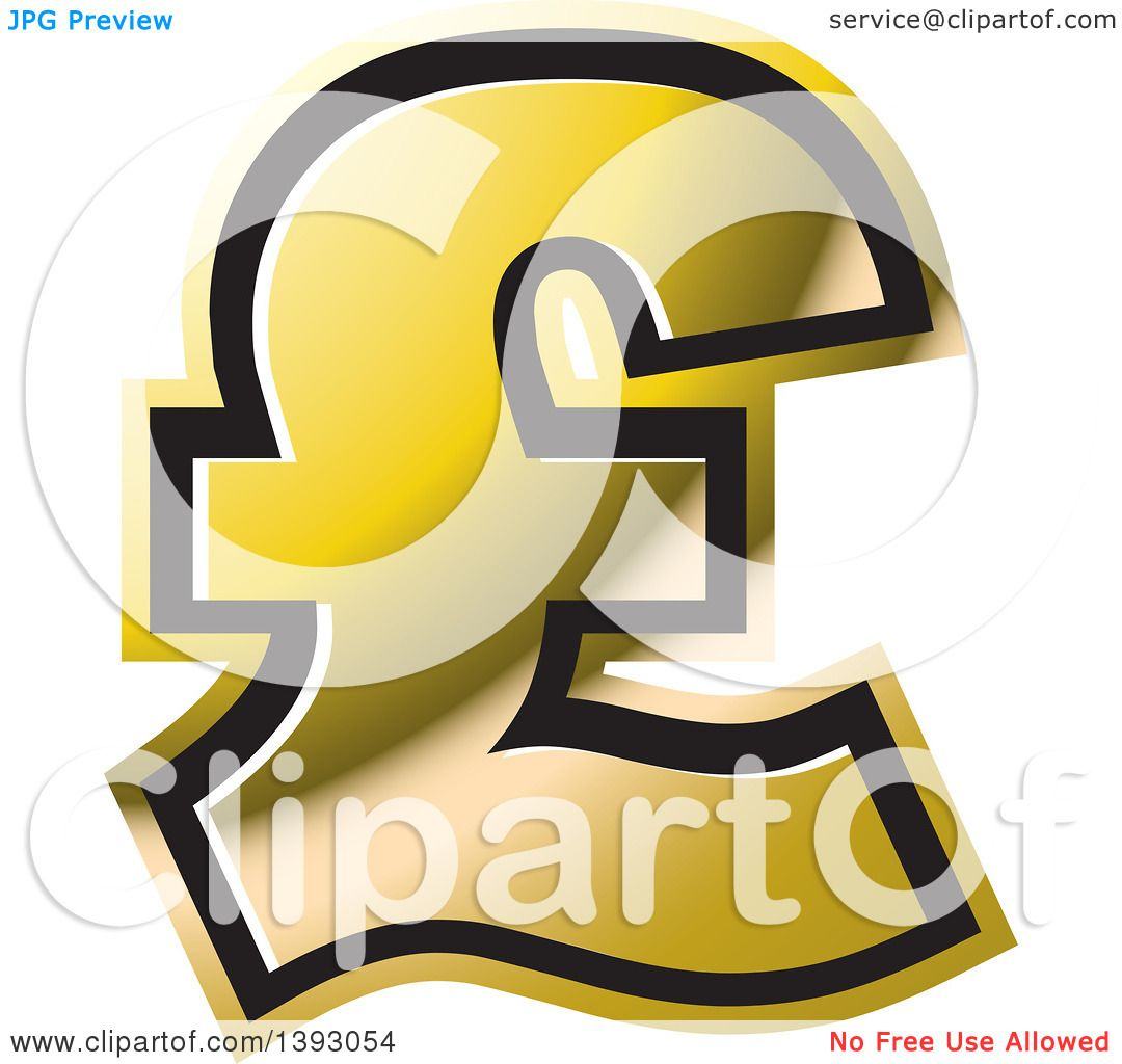Clipart of a Gold Lira Currency Symbol.