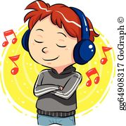 Listening To Music Clip Art.